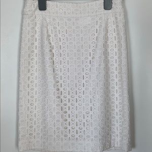 Banana Republic Eyelet Pencil Skirt